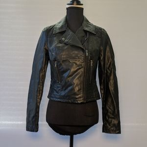 American Rag Faux Leather Motorcycle Jacket S